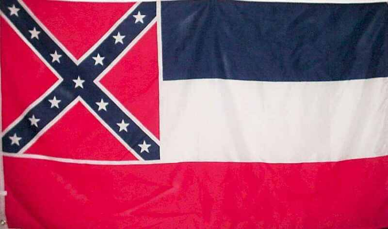 Mississippi State Flag 3x5 Printed Polyester - Heavy canvas header - NEW!