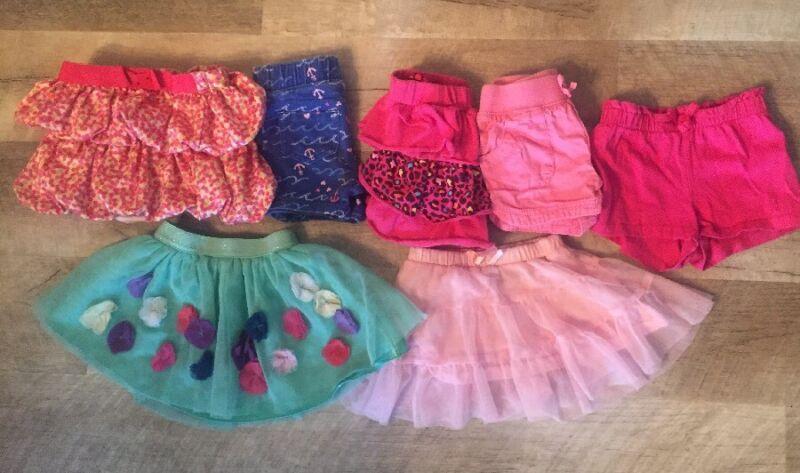 Girls Summer Size 18-24 Months Lot Dress Shorts Skirts