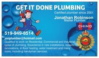 Master Plumber that takes pride in every job