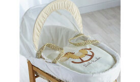 Hardly used Little Rocker Moses Basket & Stand for baby infants