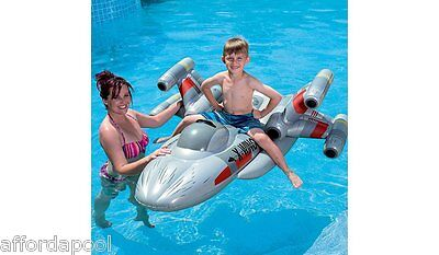 Star Wars X Wing Fighter Inflatable ride on - Rouge One, Last Jedi. Pool Fun