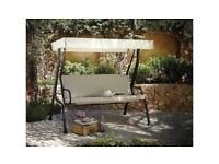 3 SEATER GARDEN SWING WITH CANOPY & COVER