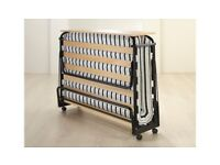 Jay-Be Double Folding Slatted Bed with Headboard and Air-Flow Mattress