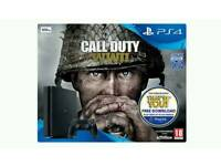 Like New Sony Playstation 4 Slim 500GB Black + Dual Shock + Call of Duty WW2 + 2 Year Warranty PS4