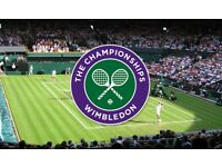 2x MENS QUARTER FINAL Wimbledon Tennis Tickets - 11th July - Court 1.