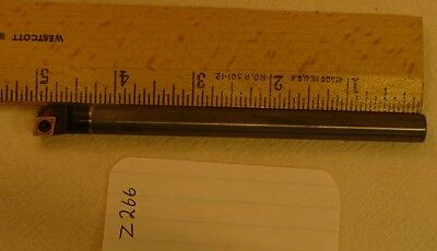 "1 NEW 3/8"" SOLID CARBIDE BORING BAR. TAKES CCMT 21.51 CARBIDE INSERT.  Z266"