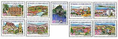 Definitive Postage Stamps - TURKEY 2008,  DEFINITIVE POSTAGE STAMPS, TURKISH PROVINCES - 2, MNH