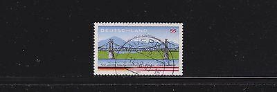 """Bund 2347 II """"Salzachbrücke"""" mit seltenerem Sicherheitsaufdruck VII gestempelt"""