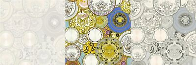 Versace Wallpaper Plates Glitter Vinyl Paste The Wall Les Etoiles De La Mer