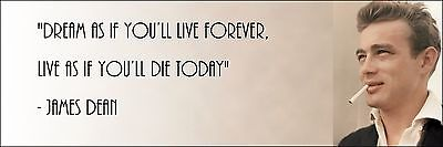 James Dean  Live As If You Only Have Today  Quote Poster Print 7 X21  On Canvas
