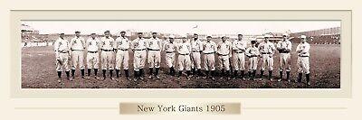 Vintage 1905 New York Giants Baseball Team Print 12 X 36 W/Double Faux Matte