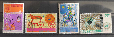 Botswana 1973 SG304-7, Centenary of IMO/WMO Norse Myths USED