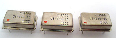 9.4000-mhz Crystal Clock Oscillators Dip Case Style Lots Of 3 Great Price