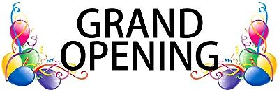 Grand Opening Balloons Outdoor Banner 18 X 54 Long Lasting