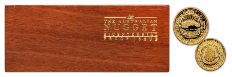 Australia 1988 Nugget 2pc Gold with BOX