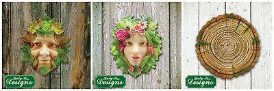 Katy Sue Designs - Green Man, Green Woman, Medium Log - Silicone Moulds - NEW