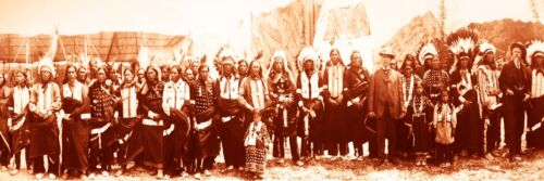 Panoramic Photographs - Group of American Indians #1 (1908) Art Poster 8""