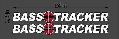 """BASS Tracker Retro Logos / PAIR / 24"""" Vinyl Vehicle Boat Decal Graphic Stickers"""
