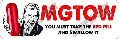 Mgtow Red Pill   Men Going Their Own Way Bumper Sticker
