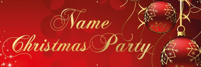 Personalised+Christmas+party+banner+with+brass+eyelets.%C2%A0