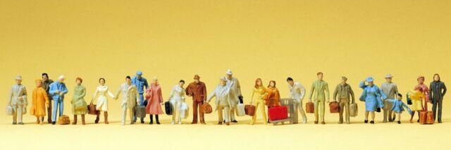 Preiser 14401 H0 Reisende, 24 Figuren, bemalt, Neu