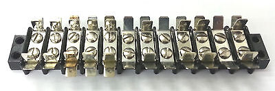12-141t 12 Position Terminal Block Strip 20a 250v Ac Wmulti Tab Connections