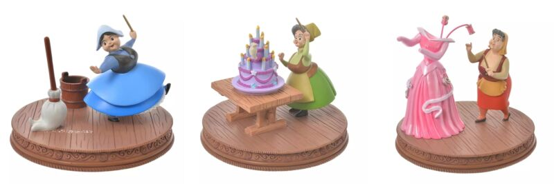 Sleeping Beauty Story Collection Fairies Set of 3 New Disney Store Japan 2021