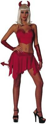 Dazzlin' Devil Red Dress 2 Two Piece Sexy Adult Costume Devils Two Piece