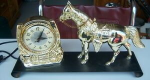 ELECTRIC HORSE CLOCK ***NEW PRICE ***
