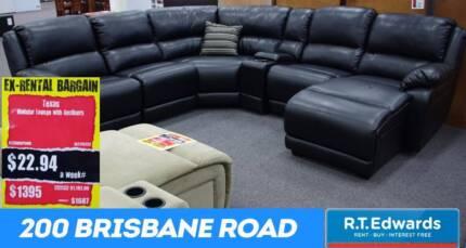 Big Black Home Theatre Lounge Suite