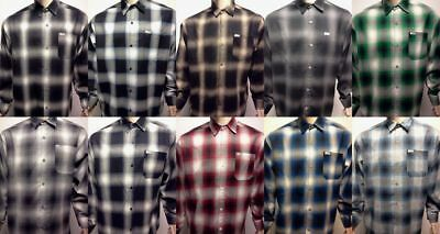 (CAL TOP Casual SHIRT LONG SLEEVE 100% Acrylic Button-Front Old School Flannel)