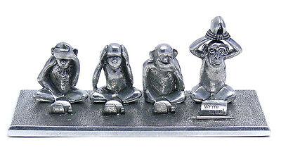 Monkey Pen Holder (Jac Zagoory Designs 4 Monkey Write No Evil Pen Holder, New in Gift Box )