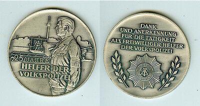 DDR Plakette Medaille 25 Jahre Helfer der Volkspolizei