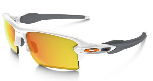 NEW Oakley - Flak 2.0 XL - Sunglasses, Polished White / Fire Iridium, OO9188-19