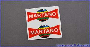 MARTANO-Vintage-Style-Bicycle-Rim-Decals-Stickers-Pair-of-Italian-Pro
