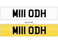 Lesmahagow Number plate private plate cherished number M111 ODH