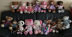 Large collection of Build A Bears with clothes £10 each, Christmas Present Toy