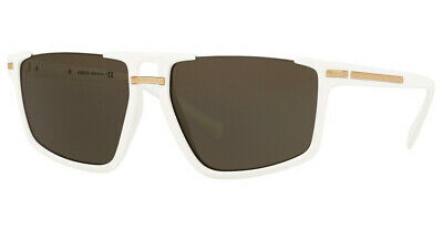 Versace VE4363 401/3 60mm Sunglasses White / Brown Lens
