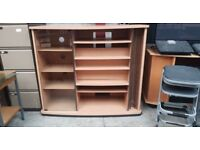 Wooden Display Cabinet/ Tv Unit With A Glass Door