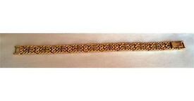 gold plated rotary bracelet