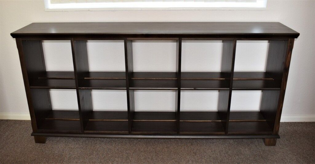 High quality double sided solid wood shelves bookcase from Ikea