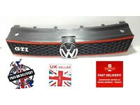 VW POLO 2009-2016 NEW FRONT GTI GRILL WITH VW CHROME BADGE BRAND NEW 6R0853651