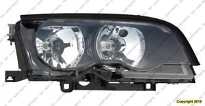 Head Lamp Passenger Side Halogen Coupe/Convertible High Quality BMW 3-Series (E46) 2002-2003