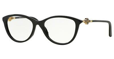 Versace 3175 GB1 Black & Gold Brille Glasses Eyeglasses Frames Size 54