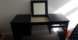Black/brown Ikea dressing table