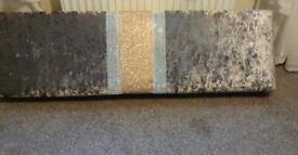 Crushed velvet & glitter pelmet