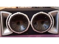 2x 1300W subwoofers in large box with 1000w amplifier