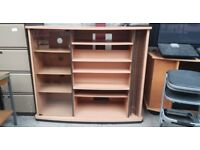 Wooden Tv Unit With Storage Space