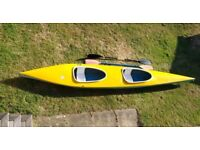 For Sale - Double Kayak, Fibre-glass construction for a fast and stable ride, complete with paddles