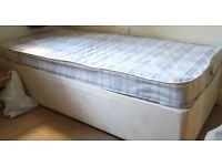 Single divan bed + mattress